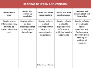 Reading to Learn and Confirm