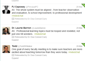 Tweet PD Baron, Caposey, Whitaker RT