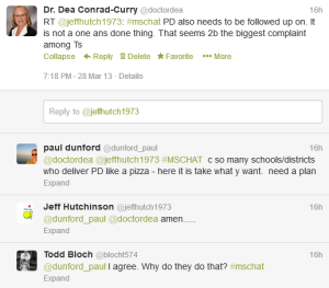 Tweet PD Exchange Dunford, Hutchinson, Bloch
