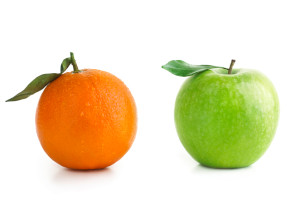 Why does anyone suggest apples and oranges cannot be compared? Ridiculous!